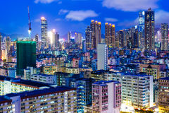 Cityscape at night Royalty Free Stock Photo