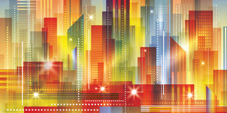 Cityscape night background. Vector Illustration Royalty Free Stock Images