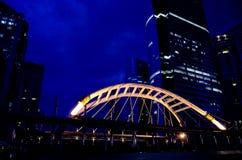 Cityscape at night in Bangkok Stock Photography
