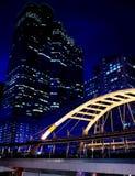 Cityscape at night in Bangkok Royalty Free Stock Image