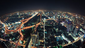 Cityscape night, Bangkok bird eye view Royalty Free Stock Photography