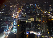Cityscape at night. Bangkok Royalty Free Stock Photo