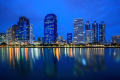 Cityscape at Night in Bangkok, Thailand Royalty Free Stock Image