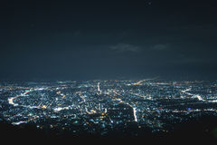 Cityscape at night. Cityscape night bokeh in chiangmai thailand Royalty Free Stock Photos