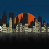 Cityscape at night. Made in vector Stock Photos