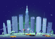 Cityscape at night Stock Photo