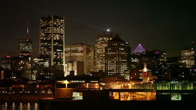Cityscape at night stock footage