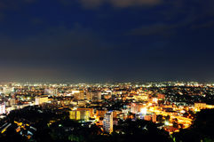Cityscape at Night, Patthaya, Thailand Stock Image