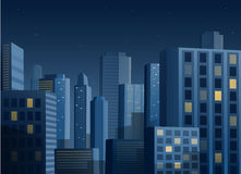 Cityscape at night vector background Royalty Free Stock Images