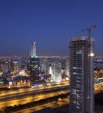 Cityscape night view Stock Image