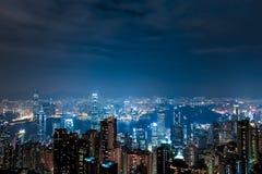 Hong Kong Victoria Peak Night Scene. Hong Kongs night, panorama,Victoria Peak Night Scene Royalty Free Stock Photos