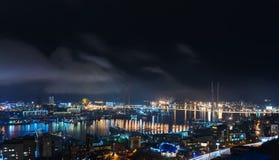 Cityscape at night. Royalty Free Stock Photo