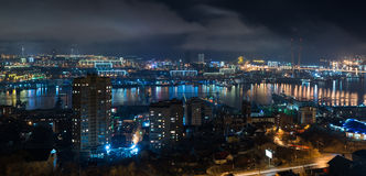 Cityscape at night. Stock Photography