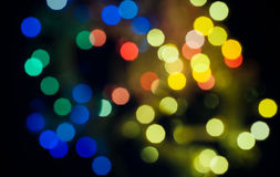 Cityscape at night, xmas bokeh Stock Images