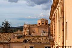 Cityscape Noto, Sicily, Italy stock photo