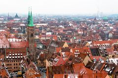 Cityscape of Nuremberg, Germany, in a winter day. Royalty Free Stock Photo