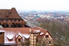 Cityscape of Nuremberg, Germany, in a winter day. Stock Images