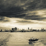 Cityscape of ocean Royalty Free Stock Photo
