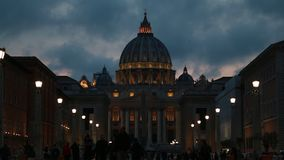 Cityscape och generisk arkitektur från Rome, den italienska huvudstaden stock video