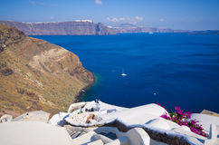 Cityscape of Oia on Santorini island, Greece Stock Photography