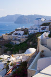 Cityscape of Oia on Santorini island, Greece Stock Images