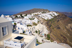 Cityscape of Oia on Santorini island, Greece Royalty Free Stock Photography