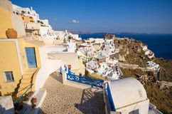 Cityscape of Oia on Santorini island, Greece Stock Photo