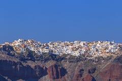 Cityscape of Oia town Stock Photo