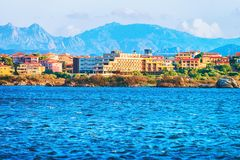 Cityscape of Olbia with Mediterranean Sea Sardinia. Cityscape of Olbia with Mediterranean Sea, Sardinia, Italy stock images
