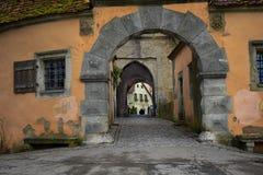 Burg Turm of rothenburg ob der tauber Royalty Free Stock Photos