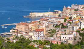 Cityscape of old coastal town Gaeta Royalty Free Stock Photography