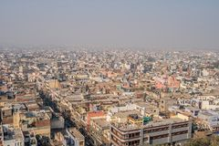 cityscape of old delhi in india royalty free stock photography