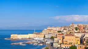 Cityscape of old Gaeta town in summer Royalty Free Stock Photo