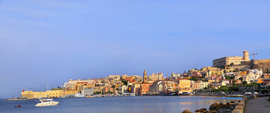 Cityscape of old Gaeta town in summer Stock Image
