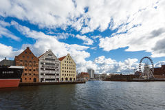 Cityscape of old Gdansk Royalty Free Stock Images