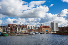 Cityscape of old Gdansk Royalty Free Stock Photos