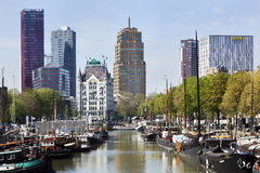 Cityscape of the old harbor in Rotterdam Royalty Free Stock Image
