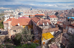 Cityscape of old Izmir in summer time, Turkey Stock Images