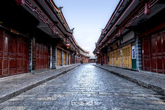 Cityscape of Old Lijiang street, Yunnan, China Stock Images