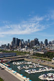 Cityscape of the Old Port and downtown Montreal, Canada Stock Image