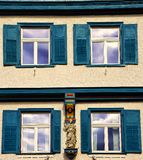 Facade of four windows in Biberach an der Ris Germany royalty free stock photography