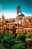 Cityscape of old Siena Royalty Free Stock Photos
