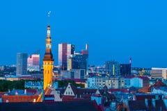 Cityscape of old Tallinn Stock Photo