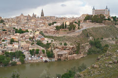 The cityscape of the old Toledo Stock Images