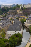 A cityscape of old town in Luxembourg Royalty Free Stock Images