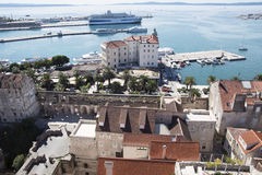 Cityscape of old town Split, Croatia Royalty Free Stock Photography