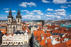 Cityscape of Old Town Square in Prague Royalty Free Stock Image