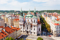 Cityscape of Old Town Square in Prague Stock Photo