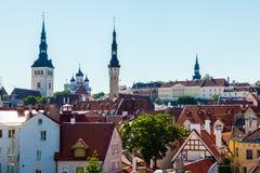 Cityscape of old town Tallinn, Estonia Stock Photography