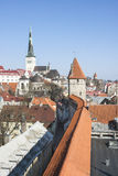 Cityscape of the old town of Tallinn, Estonia royalty free stock photo